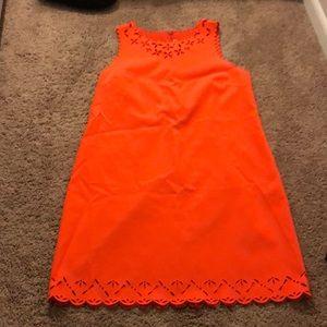 Orange crew dress
